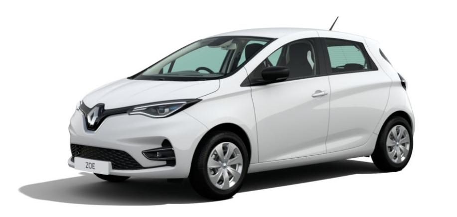 Renault zoe in white