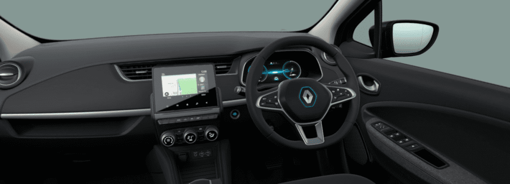front dashboard of the renault zoe